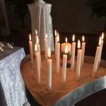 Kerzen Schale Sand