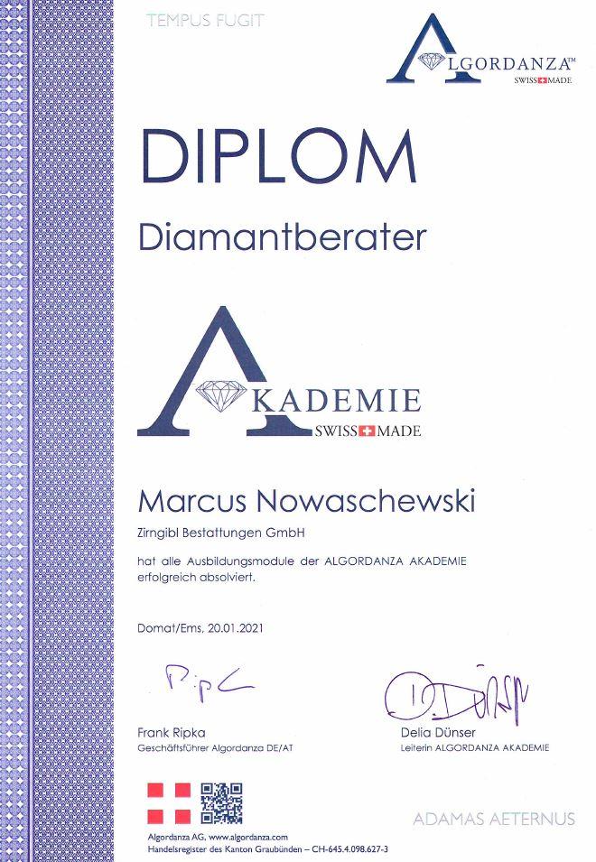 Diplom Diamantberater Mn